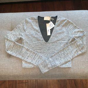 Alice + Olivia Air long sleeve knit crop top